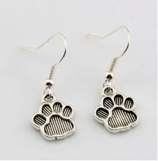 paw print charms pendant earrings
