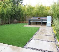 artificial turf next to pavers large