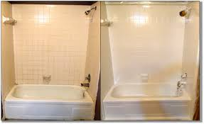 Painted Bathroom Tiles Before And After Image Of Bathroom And Closet