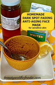 diy spot diminishing anti aging face mask
