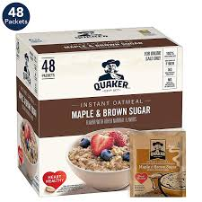 quaker instant oatmeal maple and brown