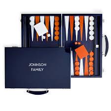 personalized lacquer backgammon set