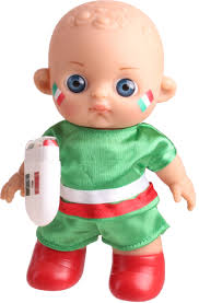 falca football baby doll with makeup