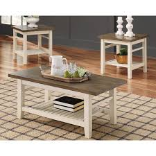 gracie oaks huseby 3 piece coffee table