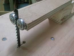 Jigsaw Table Vertical Blade Guide Woodworking With Diy Tools