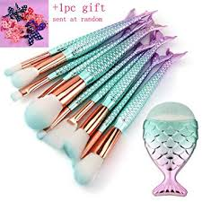 mermaid makeup brushes set scofieldly