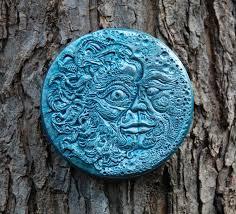 outdoor wall art blue moon decor