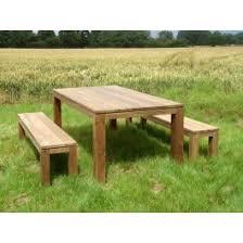 bali reclaimed teak bench set dark wash