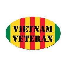 Vietnam Veteran Oval Car Magnet On Cafepress Com Veteran Car Magnets Vietnam Veterans