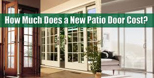 replacement patio doors cost
