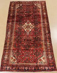 persian hamedan hand knotted wool rust