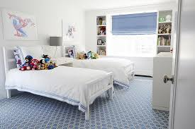 White And Blue Boys Bedrooms Contemporary Boy S Room