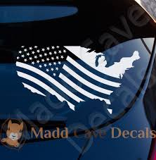 Usa Flag Country Silhouette Decal