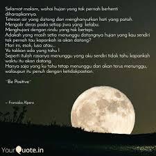 selamat malam wahai huja quotes writings by fransiska