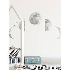 Ebern Designs Moon Phases Wall Decal Wayfair