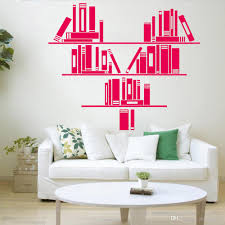 Heart Pattern Bookshelf Wall Decal Reading Room Vinyl Wall Stickers Bookstore Home Decor Home Decoration For Living Room Stickers For Walls Decoration Stickers For Walls In Bedrooms From Joystickers 12 66 Dhgate Com