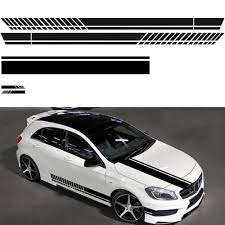 5pcs Car Sticker Drawing Waistline Sticker D 936 Car Body Racing Side Door Long Stripe Stickers Auto Vinyl Decal Black White Car Stickers Aliexpress