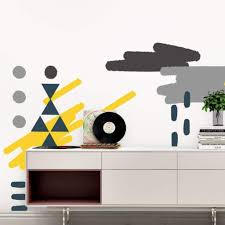 Picture Perfect Decals Removable Abstract Wall Art Stickers Fabric Wallpaper Decals