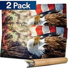 American Flag Bald Eagle Vinyl Decal Single Cornhole Board Bag Toss Wrap Cornhole Bag Toss