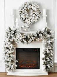 flocked snow look pre lighted wreath