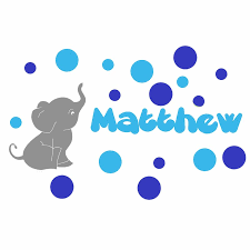 Decalthewalls Personalized Elephant With Colored Bubbles Wall Decal Reviews Wayfair