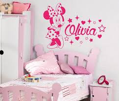 Minnie Mouse Wall Decal Name Vinyl Decals Sticker Custom Name Etsy