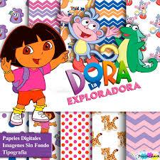 Kit Imprimible Dora La Exploradora Invitaciones Candy Bar