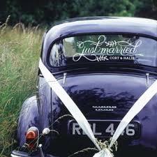 Fancy Just Married Car Sign Custom Vinyl Decal Wedding Car Sticker Personalized Custom Name Art Decals Window Glass Decor B112 Wall Stickers Aliexpress