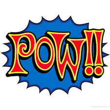 Pow Comic Book Sound Cutout Wall Decal Etsy