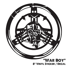 8 Vinyl Sticker Warboys Mad Max Fury Road Halloween Sci Fi Decal Fan Art Horror