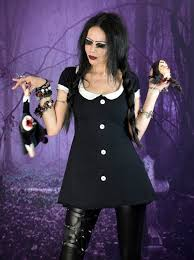 Widow Wednesday Addams Minidress £35.00 - Gothic Clothing by Moonmaiden
