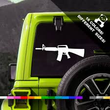 50 Off M16 Rifle Car Decal Assault Rifle Window Or Bumper Etsy