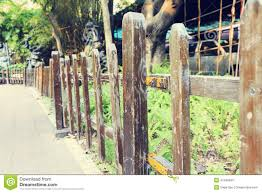 Garden Wooden Wood Fence Stock Photo Image Of Plants 47249934