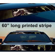 Buy 60 Skull Hell Dark Death Sun Strip Printed Windshield Car Vinyl Sticker Decal
