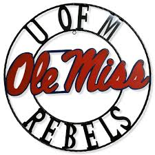 Ole Miss Rebels 18 Round Collegiate Sign