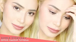 simple everyday office makeup tutorial