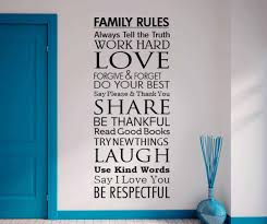 Family Rules Wall Decal Sticker Family Rules Wall Decal Sticker