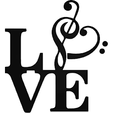Love Music Note Symbol Vinyl Decal Sticker