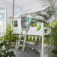 Kids Back To Jungle 20 Indoor Jungle Themed Ideas Tree House Bedroom Tree House Bed Kids Jungle Room