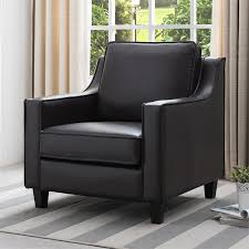 irene faux leather accent chair