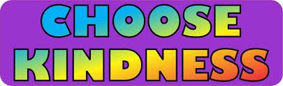 10in X 3in Purple Choose Kindness Bumper Sticker Vinyl Stickers Car Decal Stickertalk