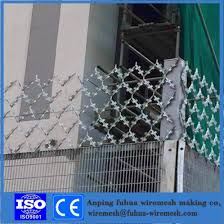 China Hot Dip Galvanized Expanded Metal Mesh Stretch Diamond Wire Mesh With Razor China Expanded Mesh Wire Mesh