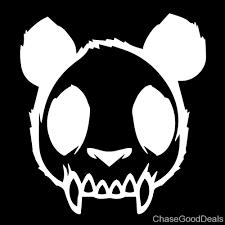 Skull Zombie Panda Evil Mad Dead Goth Vinyl Decal Car Sticker 4 63 X 5 White Walmart Com Walmart Com