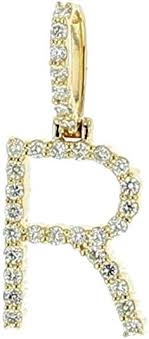 midwest jewellery 10k gold initial r