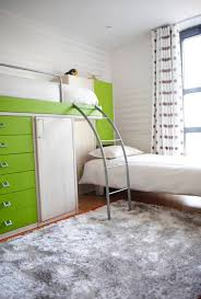 Elegant Twin Over Full Bunk Bed With Stairs In Bedroom Contemporary With Bunk Beds Next To L Shape Bed Alongside Storage Bed And Small Kids Bedroom