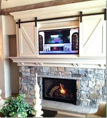 living room with fireplace and tv