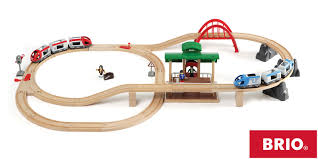 multi level switching wooden railway