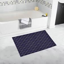 royal blue plaid tartan bath rug 20 x