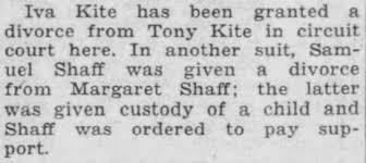 Iva Cook Kite/Tony Kite Divorce - Newspapers.com