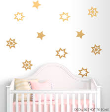 Stars Wall Decal Gold Vinyl Decals Gold Stars Decal Stars Etsy